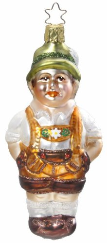 Inge Glas Bavaria Hans 1-044-12 German Blown Glass Christmas Ornament Gift Box