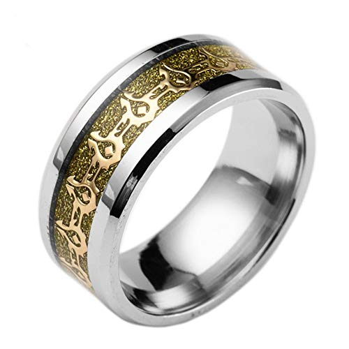 World of Warcraft Rings, Horde and Alliance Rings, Blizzard Gaming Rings, Wow Peripheral Products, Titanium Steel, Various Sizes and Colors (Horde Golden, 8)
