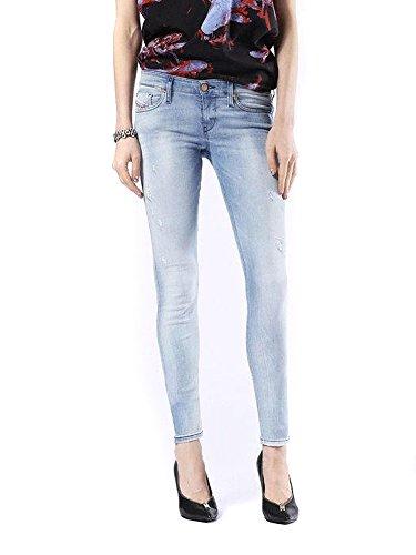 Stretch Skinzee Low Jeans 0854g Donna Diesel Blu Pantaloni p4Rdqxw