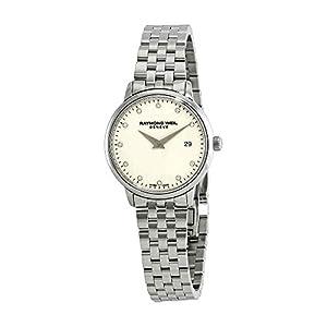 Raymond Weil 5988-ST-40081 - Reloj para Mujer, Esfera de Diamante de Color Marfil 12