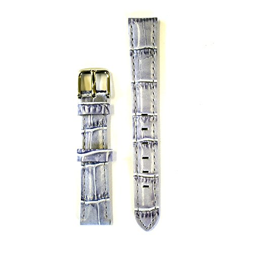 Leather Croco Embossed Lavender 12 Millimeters Watch Strap ()