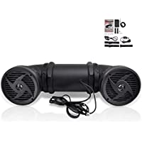 Pyle Tornado Bluetooth Waterproof ATV Speaker Sound System, For UTV Go Cart All terrain,500 Watt, 6.5-Inch, AUX Input