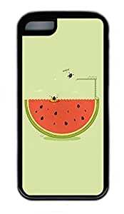 iPhone 5C Case, Personalized Protective Rubber Soft TPU Black Edge Case for iphone 5C - Cool Summer Cover