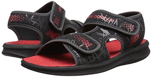 Pictures of New Balance Boys' Sport Sandal-K Black/ Black/Red 6 M US Toddler 4