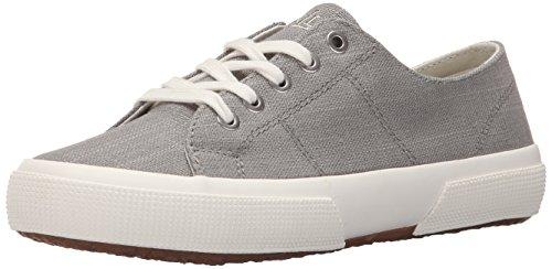 Lauren Ralph Lauren Women's Jolie Fashion Sneaker, Grey Flax Linen, 9.5 B US