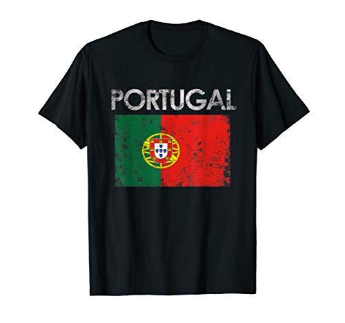 Vintage Portugal Portuguese Flag Pride Gift T-Shirt
