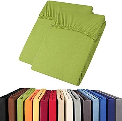 Aqua-textil Viana Sábana bajera ajustable de algodón jersey sábana ...