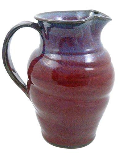 purple ceramic pitcher - 1