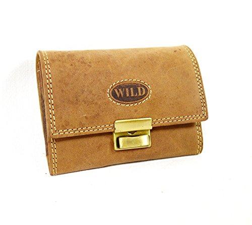 Wild kleine Büffel Leder Geldbörse Minibörse Kellner handliche Leder Senioren Brieftasche