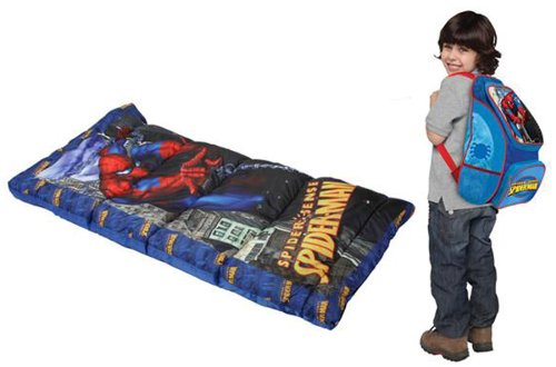 Spider-Man Backpack and Sleeping Bag Combo, Blue, Outdoor Stuffs