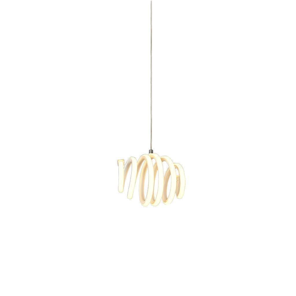 Chandelier Post Lámpara LED Moderna Lámpara Colgante Espiral ...