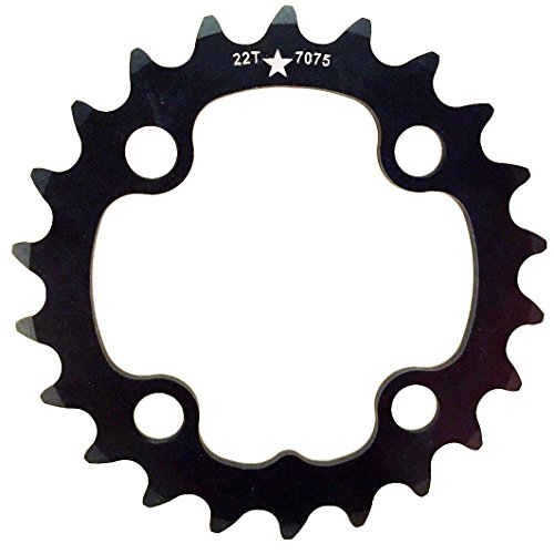 USA Made 64mm BCD 22T 4-Bolt SharkTooth Pro Mountain Chainring MADE IN USA (9 Speed 64mm 4 Bolt)
