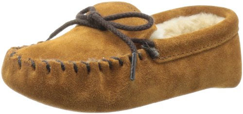 Minnetonka Pile Lined Softsole ,Brown,13 M US Little Kid