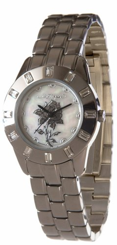 Roses Hardy Ed Womens (Ed Hardy Women's 'Chic' Quartz stainless-steel-316L and Stainless Steel Dress Watch(Model: CH-LTD))