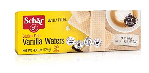 (Schar Vanilla Wafers, Gluten Free, 4.4-ounces (Pack of 6))
