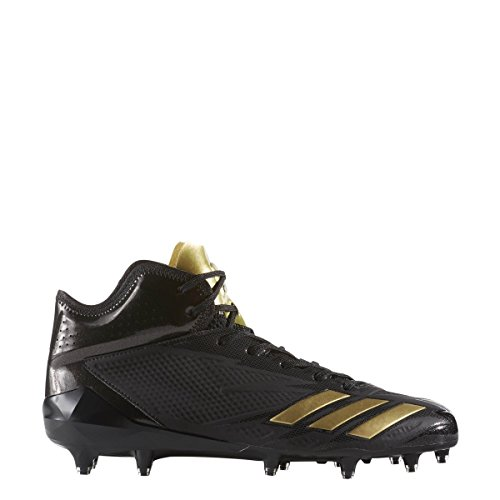 Adidas Adizero 5star 6.0 Mid Cleat Mens Nucleo Di Calcio Nero-oro Metallizzato-nero