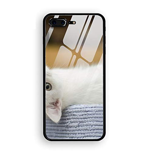 Phone 7/8 Plus Case Endearing Kitty Printed Hard PC Durable Rubber Protective Case Tempering Cover for Phone 8 Plus/Phone 7 Plus 5.5 inch