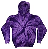 Tie Dye Pullover Multi Color Spider Purple Hoodie Medium