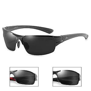 ZMP Aluminum-Magnesium Polarized Sports Sunglasses Frameless Ultra-Light Lens Sunglasses (Color : 1)