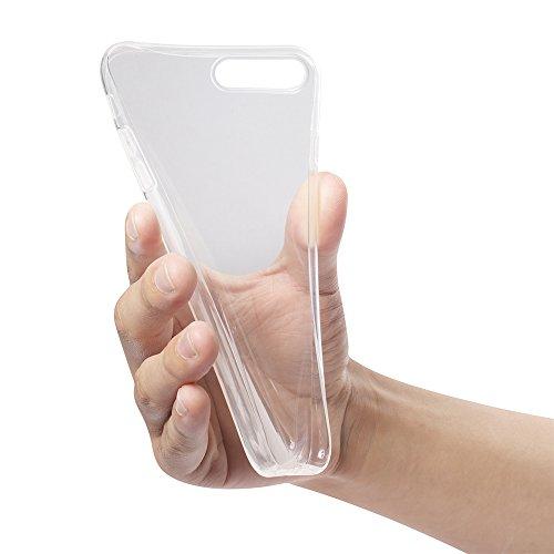 B&L iPhone 7 Plus und iPhone 8 Plus 5,5 Zoll Schutz-Hülle Silikon TPU transparent ultra-slim Case Cover ultra-thin durchsichtig extra Kameraschutz Linsenschutz 0,3mm