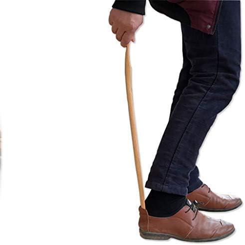 くつべら 無垢材の靴べらは、1で靴2を傷、プロの延長靴べらは、高齢者、子供、妊婦、長さ55センチに使用します