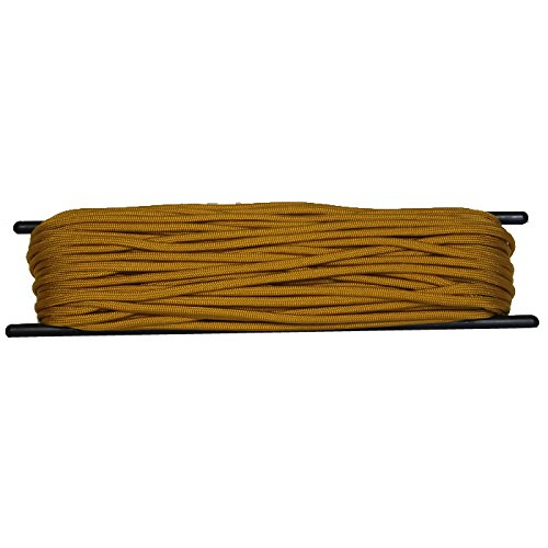 Bartact USA Made 550 7 Strand Nylon Paracord Hank 50 or 100 ft (Dozer Yellow, 100)