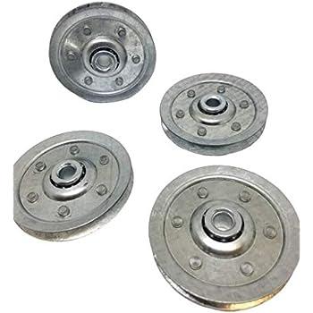 Extension Spring Pulley Wheel Garage Door 3 Sheave Pulleys 4 pack