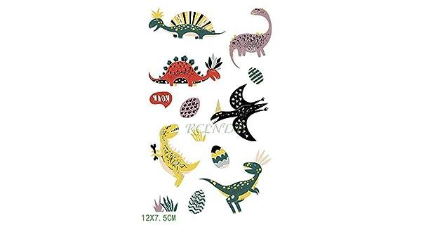 ljmljm 5pcs Impermeable Tatuaje Tatto Pegatinas Dinosaurio ...