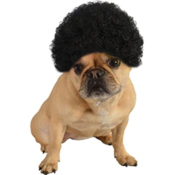 Rubie's Pet Costume Afro Curly Wig, Small To Medium, Black