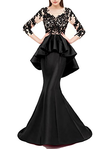 Butmoon Women's Mermaid Long Peplum Dress Formal Evening Gown