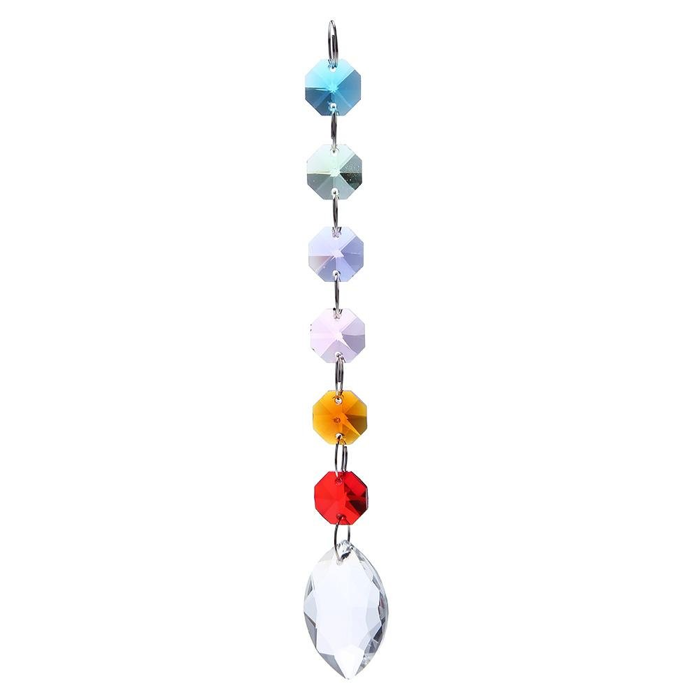 Demiawaking Chandelier Crystals Beads Drops Prism Sun Catcher Hanging Pendant Ornaments Window Garden Decorations (Faceted Beads, Teardrop) DemiawakingUK