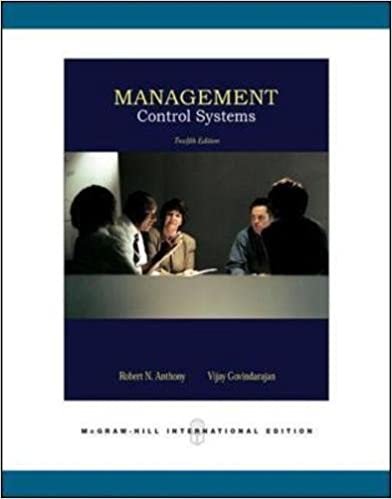 management control systems robert n anthony  management control systems 12th edition