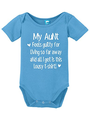 (Sod Uniforms My Aunt Feels Guilty Printed Infant Bodysuit Baby Romper Light Blue 6-12 Month)