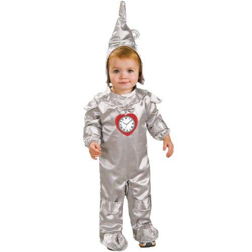 [Wizard Of Oz Tin Man Romper Costume, 6-12 Months] (Tin Man On Wizard Of Oz)