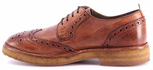 Scarpe Classiche Uomo MOMA 54504-TC Hannover Cuoio Sell Derby Brogue Vintage ITA