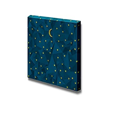 Canvas Prints Wall Art - Night Sky Made from Crumpled Paper Vector Eps10-24