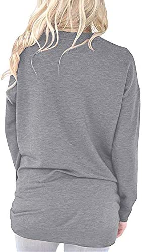 Oriental Pearl Mama Shirt for Women Long Sleeve Sweatshirts Caual Tunic Tops Comfy Pullover Blouse with Pockets