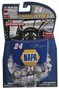 2017 Wave 2 Chase Elliott NAPA Paint Scheme 1/64 Scale Diecast Lionel NASCAR Authentics with Mini Replica (Nascar Tribute Hood)