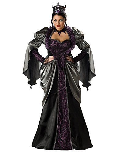 InCharacter Costumes Women'sPlus Size Wicked Queen Costume, Black, (Evil Queen Costume Plus Size)