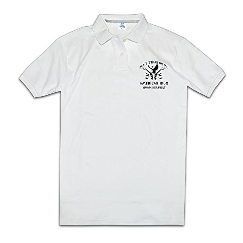 Don't Tread On Me 6 Shooter Mens Polo Style S White