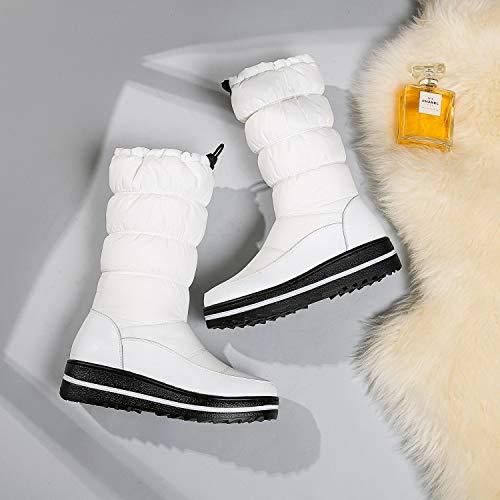 Tacco Tacco con Bianca con Medio Scarpe Gaslinyuan Scarpe 37 Scarpe Scarpe Scarpe EU Zeppa Donna Stringate Dimensione Colore xBAHqIX