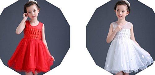 OPSUN estampado vestidos de ninas 2015 verano vestidos de nuevo de la moda para chicas bebe Blanco