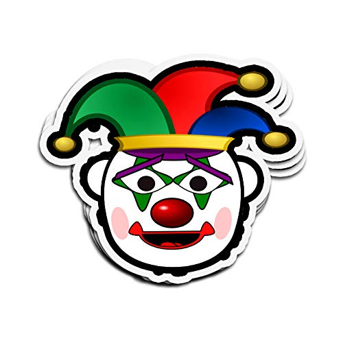 Jarky Love 3 PCs Stickers Clown Face