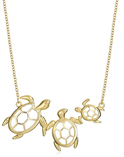 Sterling Silver Turtle Family Necklace product image