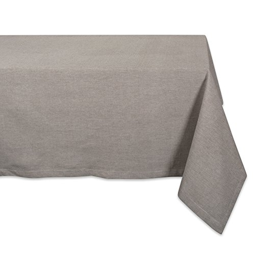 DII CAMZ38698 Stone Solid Chambray Tablecloth, 60x120, Chamb