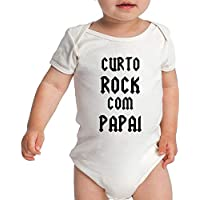 Body Criativa Urbana Bebê Divertidos Curto Rock Com Papai