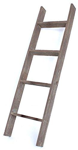 BarnwoodUSA Rustic 4 Foot Bookcase Ladder – 100% Reclaimed Wood, Brown