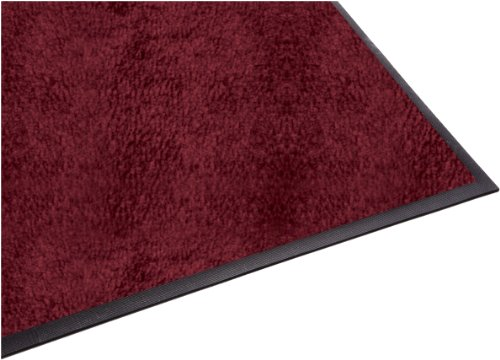 Guardian Platinum Series Indoor Wiper Floor Mat, Rubber with Nylon Carpet, 2'x9', Burgundy