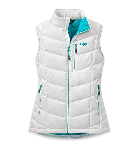 Outdoor Research Women's Sonata Down Vest, White/Typhoon, Small