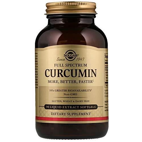 Solgar Full Spectrum Curcumin - 90 Liquid Extract Softgels - Brain, Joint, Immune Support Supplement, Anti inflammatory, Antioxidant - Non-GMO, Gluten Free - 90 Servings - Full Spectrum Antioxidant